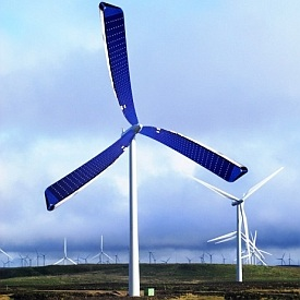 Bu Rüzgar Türbini Güneş Enerjisini de Elektriğe Çeviriyor